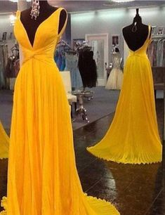 Beautiful Prom Dress, yellow prom dresses backless prom gown open back evening dress chiffon prom dress sexy evening gowns yellow formal dress wedding guest prom gowns Meet Dresses Pageant Dresses For Teens, Classy Prom Dresses, Prom Dresses 2018, Backless Prom Dresses, Beautiful Prom Dresses, Formal Dresses, Prom Gowns, Dress Prom, Dress Wedding