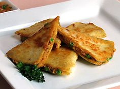 I love samosas and quesadillas, so this recipe was a win-win from the beginning. I found this recipe on a site called Go Dairy Free (see li. Veg Recipes, Dairy Free Recipes, Indian Food Recipes, Cooking Recipes, Healthy Recipes, Gluten Free, Snacks Recipes, Samosas, Samosa Chaat