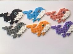 Whales hama beads by Line Tind Kristensen - one to share with the kids in the family