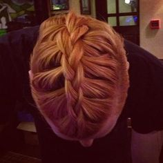 braided hairstyle for long hair with undercuts