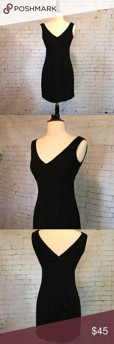 BCBG Black V Neck Mini Dress Super cute and flattering little black dress!  Mini dress with v Neck! BCBG Dresses Mini