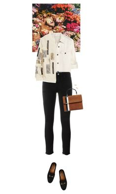 """""""Outfit of the Day"""" by wizmurphy ❤ liked on Polyvore featuring Étoile Isabel Marant, IRO, By Malene Birger, Gucci, Tomasini, Gorjana, ootd and bomberjacket"""