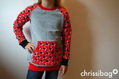 chrissibag: girly longsweater von mommymade