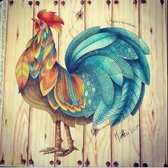 Oh I love this! Animal Kingdom rooster page - her background <3