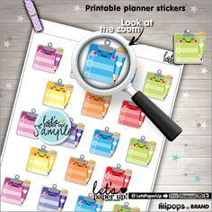 Checklist Stickers, Printable Planner Stickers - Planner stamps for your Erin Condren planner, Filofax, KikkiK, any day planner or anywhere else.