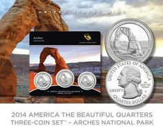2014 America the Beautiful Quarters Three-Coin Set - Arches National Park.