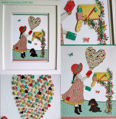 "LOVE LETTERS ""Original"" 3D paper cut framed artwork by roxyoxy creations www.roxyoxy.com.au #loveletters #art #childrenswallart #childrenswalldecor #childrensroomwallart #artforchildrensrooms #kidswallart #kidsroomwallart #teenageart #papercut #papercutart #3dart #illustrations #illustrationsforchildren #childrensinteriordesign #girlswallart #girlswalldecor #kidsroomdecor #nurseryart #artforgirlsnursery #nurserywallart #roxyoxycreations #prettywallart #cutewallart"