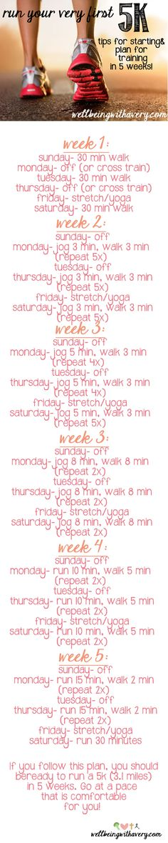 wanting to run your first 5k in 2014? Follow this simple, beginner training plan. Includes running and walking intervals!