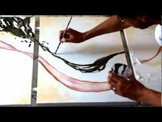 Abstract acrylic painting demo video - Réalisation d'un tableau - Ulex Minor by John Beckley - YouTube