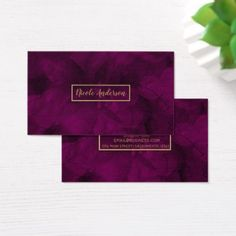 Fuchsia Gold Watercolor Floral Glam Elegant Modern Business Card - elegant gifts gift ideas custom presents