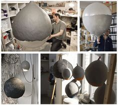riesen Lampe, mit einem Luftballon schnell selbst gemacht