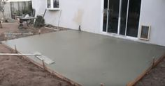 DIY Instructions For Pouring Concrete Slab In A Day.