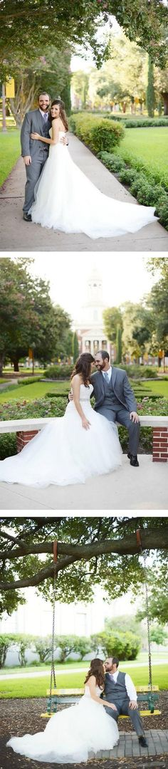 Baylor makes a perfect backdrop for wedding photos -- no question!