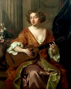 ♪ The Musical Arts ♪ music musician paintings - Peter Lely | Portrait of Mrs…