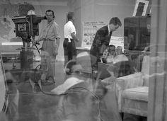 Frank Larson 1954 Today Show window