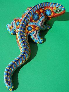 Huichol Clay Iguana