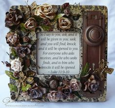 Altered frame tutorial - PERFECT for the Scripture inside  *********************************************   (repin) ScrapsofLife #altered #frame #scripture