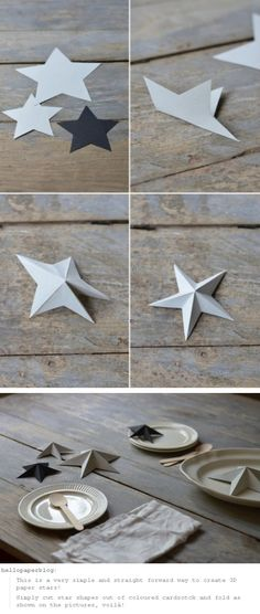 DIY Paper Art Projects - Learn How to Make Paper Stars mach gefaltete Papiersterne Folded Paper Stars, 3d Paper Star, Paper Art Projects, Diy Projects To Try, Craft Projects, Craft Ideas, Origami Paper, Diy Paper, Paper Crafting