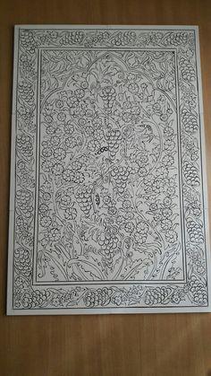 Sculpture Painting, Mural Painting, Mural Art, Silk Painting, Tile Murals, Tile Art, Drawing Block, Kalamkari Designs, Plaster Art
