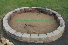 Fire Pit Sand and Brick This one looks great and will big large enough to burn yard waste. Also I like to way they explain how to put it on a slight slope.