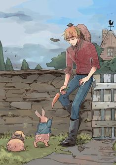 THAT'S a cool crossover between Peter rabbit and Hetalia Denmark Hetalia, Hetalia England, Hetalia Fanart, Hetalia Axis Powers, Usuk, A Series Of Unfortunate Events, Another Anime, Cute Anime Couples, Artist Art