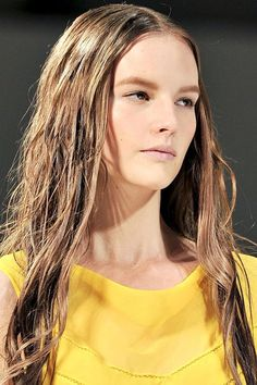this wet look was hot with Alberta Ferretti