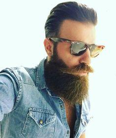Rockin' a pair o' Rays Short Beard, Sexy Beard, Epic Beard, Full Beard, Great Beards, Awesome Beards, Moustaches, Tapered Beard, Beard Cuts