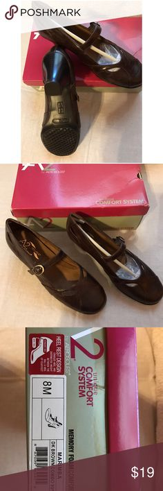 🎄 new listing🎄 Mary Janes New aerosole Mary Janes, brown, never worn, no scratches or defects, I bought them for my daughter and they were to small, I lost the receipt so can't return them.  My loss is your gain :) very cute and comfortable shoes 👠 AEROSOLES Shoes Heels