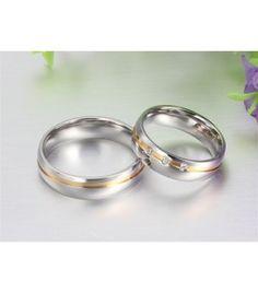 nemesacél gyűrű, Arany sávos férfi karikagyűrű nemesacélból Paros, Wedding Rings, Engagement Rings, Jewelry, Enagement Rings, Jewlery, Jewerly, Schmuck, Jewels