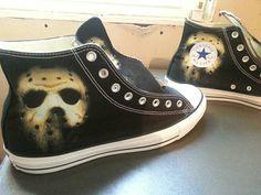 Friday the 13th Jason Custom Converse All Stars by ArkhamPrints