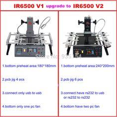 IR6500 V.2 Infrared BGA Rework Station Bga Machine With Bigger Preheat Area 240200mm USB Port No Tax To EU