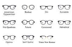 W&K Tokyo: Type Glasses Times New Roman Etc 15