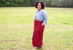 DIY Wrap Skirt : McCalls 7129