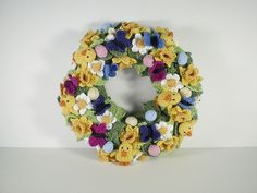 And then you could just make the whole wreath.  Pattern Name Springtime Wreath Free Pattern by Frankie Brown