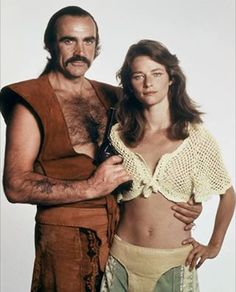 "Sean Connery and Charlotte Rampling in ""Zardoz"" (1974)"