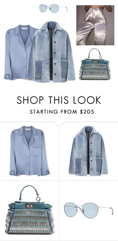 """""""In my blues"""" by astrro ❤ liked on Polyvore featuring Alessandra Mackenzie, Burberry, Fendi and Ray-Ban"""