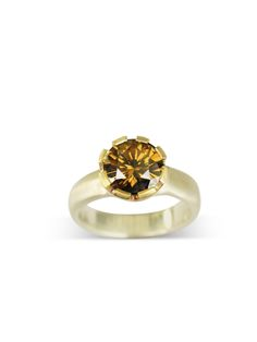 Golden Cognac ~Moissanite crown set ring 9mm Rounds, Gold Top, Moissanite Rings, Custom Jewelry, Crafting, Stud Earrings, Crown, Engagement Rings, Jewellery