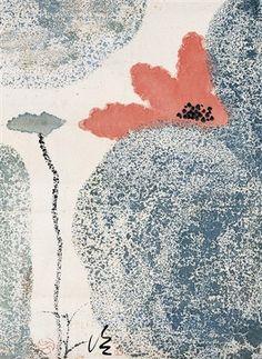 Abstract Watercolor, Abstract Art, Art Chinois, Lotus Art, China Painting, Traditional Paintings, Japan Art, Botanical Art, Ink Art