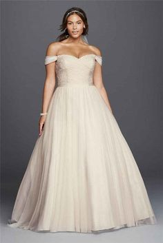 Beaded Lace Sweetheart Plus Size Wedding Dress - The Most Amazing Wedding Dresses for Brides with Big Belly - EverAfterGuide