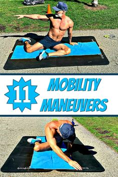 The hips, shoulders, and knees can become increasingly immobile with each passing year. Mobility drills to the rescue! These 11 mobility maneuvers can help your joints become supple and stay supple so that you can reach your next set of fitness goals. Fitness Goals For Women, Fitness Tips, Health Fitness, At Home Workouts, Gym Workouts, Quick Workouts, Weight Exercises, Balance Exercises, Hip Mobility