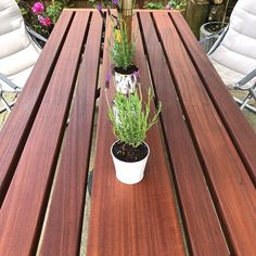 The sun came out and so has the garden table! This table has been made with Sapele a hardwood which is almost completely rot and weather resistant so ideal for being outside in British summertime! The dark brown colour is completely natural, it has simply had a coat of #osmooil from @osmo_uk. Let's hope the sun stays long enough to use it! Little Barn, Dark Brown Color, Garden Table, Summertime, Hardwood, British, Weather, Oil, Colour