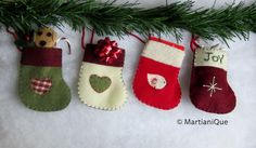 Christmas Gift Card Holder Stockings Ornament by Martianique, $9.00