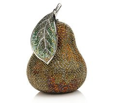 Inspiration how about a flat pear with a dangling leaf? This is a Judith Leiber - purse