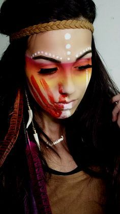 tiger lily Princess Halloween Makeup                                                                                                                                                                                 More