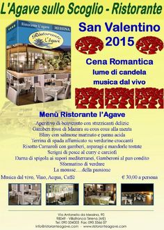 San Valentino 2015 http://www.ristoranteagave.com/eventileggi/106/ #offerte #sanvalentino #ristoranti