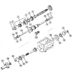 t 90 transmission exploded view diagram willys jeep t 90 rh pinterest com Manual Jeep a Trench Jeep Steering Gear Box