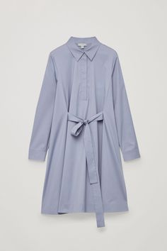 Cos Shirt Dress With Front Tie - Smoked Violet 12 Muslim Fashion, Hijab Fashion, Korean Fashion, Mature Fashion, Modest Fashion, Cute Comfy Outfits, Casual Outfits, Kpop Fashion Outfits, Fashion Dresses