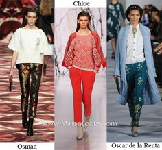 Fall/ Winter 2012/ 2013 Fashion Trend #9: Slim-fit trousers  Slim-fit trousers are not a new design and many of us own a pair or two of them already. However, designers believe we can wear them more often during the Fall/ Winter 2012/ 2013 fashion season. Sport them with loafers or flats shoes for a comfortable look or with sexy pumps to create a glamorous outfit.