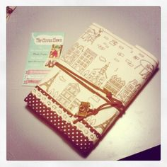 Soft cover handmade notebook journal A6, brown natural paper, with vintage camera charm