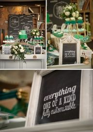 Style me Pretty Feature for Emerald & Chevron Sweet Table